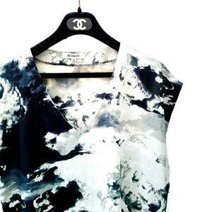 BB Dakota Black White Sheer Shift Dress